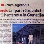 un parc residentiel de loisirs la grenatière à Pomérols